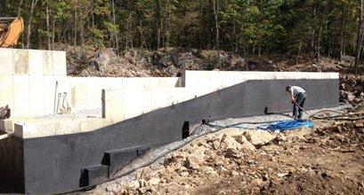 Réparation de fissures et fondations avec membrane